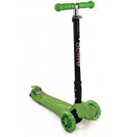 Самокат трехколесный SKL-07CL со складывающейся ручкой Maxi Flash Plus Зеленый