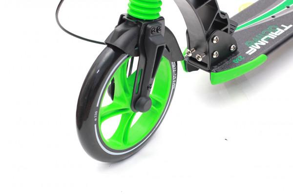 Самокат K5 с двумя амортизаторами Triumf Active Зеленый