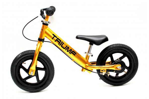 Беговел Triumf Active AL-1201TW Golden на надувных колесах и с ручным тормозом