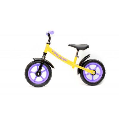 Беговел AKB-1289 желтый с фиолетовым
