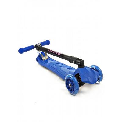 Самокат трехколесный SKL-07CL со складывающейся ручкой Maxi Flash Plus Синий