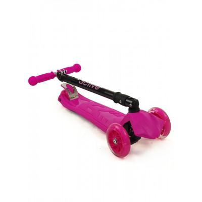 Самокат трехколесный SKL-07CL со складывающейся ручкой Maxi Flash Plus Розовый