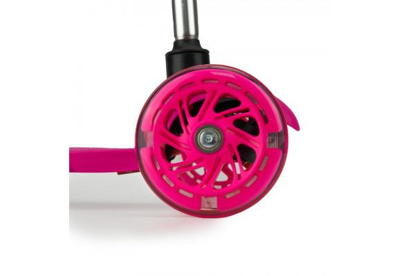 Самокат трехколесный SKL-06AH для самых маленьких Mini Up Flash Розовый