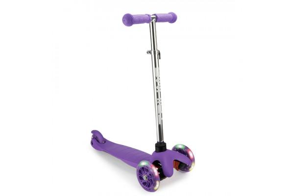 Самокат трехколесный SKL-06AH для самых маленьких Mini Up Flash Фиолетовый