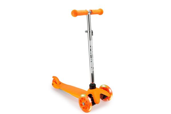 Самокат трехколесный SKL-06AH для самых маленьких Mini Up Flash Оранжевый