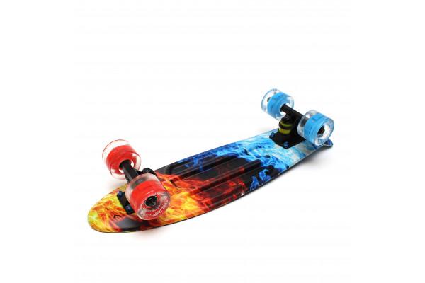 """Скейтборд 22"""" TLS-401G Led Print Flames"""