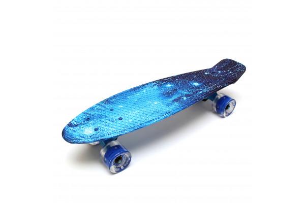 """Скейтборд 22"""" TLS-401G Led Print Moonlight"""